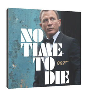 no time to die James bond canvas wall art Wood Framed Ready to Hang XXL print