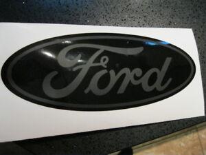 Black Ford F-250 Grill Decal 2010-2016 F350 F450 F550 Super Duty Emblem Flat