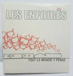 LES ENFOIRÉS (titre Cabrel) ♦ CD PROMO NEUF ♦ TOUT LE MONDE Y PENSE
