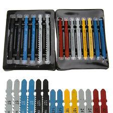 14x Assorted T-Shank Jigsaw Blades Set Metal Plastic Wood Jig Saw Cutter Kit US