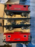 MTH & Lionel Standard Gauge 200 Series Lot Of 4 Cars