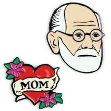 More details for 🇦🇹 sigmund freud & mom pins by the unemployed philosophers guild