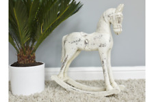 Rocking Horse Home Decorative Ornament Distressed Wood H48cm x W42cm x D11cm