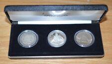 Three Coin Commemorative  Half Dollar Set in Deluxe Case