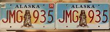 USA Nummernschild/Kennzeichen/license plate/US car/Harley/ * Alaska bear * paar