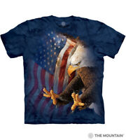Freedom Eagle The Mountain 100% Cotton Adult Blue T-Shirt Sizes M-L-XL NWT