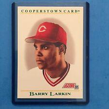 1991 Score COOPERSTOWN Insert #B2  Barry Larkin HOF Reds  NM/MT