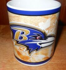 "Baltimore Ravens NFL Football Coffee Mug 3 3/4"" tall."