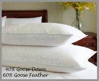 1 x Goose feather & Down Pillow 60% Feather & 40% Down **Includes Pillow Case**