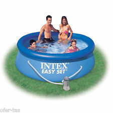 PISCINA HINCHABLE INTEX EASY SET 28112NP 244x76 cm (CON DEPURADORA)