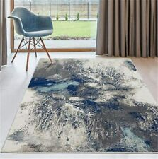 Stylish Abstract Living Room Bedroom Carpets Blue Gray Area Rugs 5X7 8X10 Large
