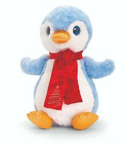 KEEL 20cm PENGUIN WITH SCARF SOFT TOY CUDDLY PLUSH CUTE  - NEW GIFT CHRISTMAS