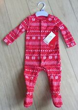 unisex Baby  Fleece All-in-one Sleep-suit. aged 3-6 mths. brand new and tagged.