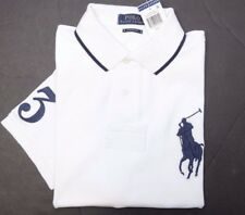 NWT Polo Ralph Lauren Men's Big Pony Custom Fit White Cotton Polo Shirt XL