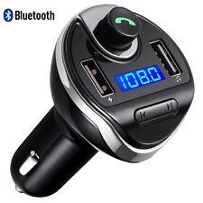 Wireless Bluetooth Auto Kit TRASMETTITORE FM MANI LIBERE chiamando Smartphone UNIVERSA