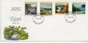 New Zealand Comm/FDC -  Rivers - 1981 (2371)Q