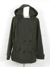 George Womens Size XL Brown Peacoat Hoodie Coat