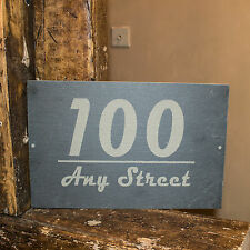 A4 SIZE PERSONALISED SLATE HOUSE SIGN PLAQUE ANY DOOR NUMBER HOUSE NAME SIGN