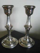 1902 Birmingham BS & Co Sterling Silver Candlesticks