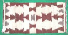 VTG NATIVE INDIAN NAVAJO RUG FOLK ART TEXTILE ROSE SMITH SADDLE BLANKET HUBBEL