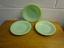 fire king jadite saucers lot of 3