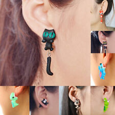 3D Cartoon Animal Fox Cat Polymer Clay Ear Women Girl Cute Stud Earrings Jewelry