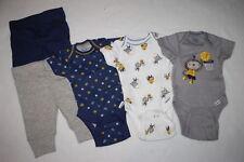 79853fb90e Baby Boys 5 PC CLOTHING LOT Gray Navy Blue MONKEY SPORTS Bodysuits   Pants  NB