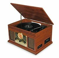 Record Player Vinyl Turntable with Speakers – USB MP3 Playback/ Bluetooth/ FM