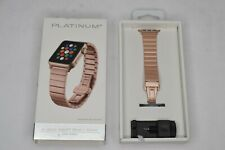 Platinum - Link Stainless Steel Band for Apple Watch 38mm / 40mm - Gold