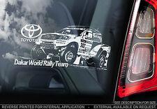Toyota 4x4 - Car Window Sticker -Dakar Rally Sign- Hilux RAV4 Landcruiser Tundra