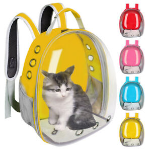 Soft Cat Dog Carrier Bag with Bubble Window Small Puppy Kitten Travel Backpack