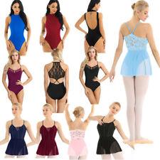 Women Girls Lace Ballet Leotard Dress Gymnastics Bodysuit Camisole Dancewear