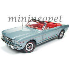 AUTOWORLD AMM1103 1965 65 FORD MUSTANG CONVERTIBLE 1/18 SILVER SMOKE GREY