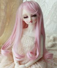 "1/3 8-9"" BJD Dollfie Doll Wig Pullip LUTS SD Blythe Long BJD Wig Pink Hair"
