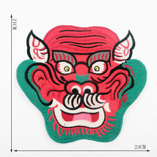 Red Green Monster Fashion Embroidered Applique Sew On Cotton Patch Jacket Cloth