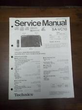 Technics Service Manual for the SA-VC10 Video CD Stereo System~Repair~Original