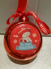 My First Christmas Red Bauble Teddy Baby babies 1st xmas decoration hanging tree