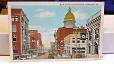 Vintage Postcard Main Street Looking South Greensburg Pennsylvania