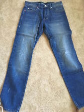 NEW TRIUMVIR Indigo Selvedge Denim Jeans in Blue [Size 30] Pant