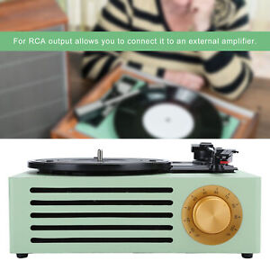 HY-T05 Bluetooth Record Player Retro Turntable Player 33/45/78 RPM for RCA R/L