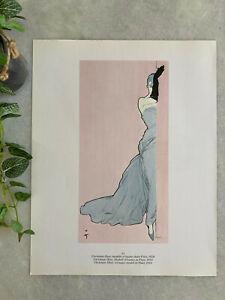 Poster René GRUAU Montézin 1950 Flair Dior illustration dessin deco affiche 47