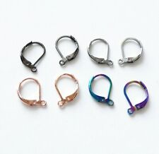 8x Stainless Steel Leverback Hypoallergenic Earring Hooks Locking French Wires