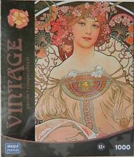 Reverie Lady Alphonse Mucha Art Nouveau Jigsaw Puzzle 1000 pc New in Box