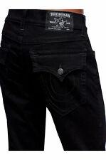 True Religion Men's Ricky Straight Fit Stretch Jeans in Body Rinse Black