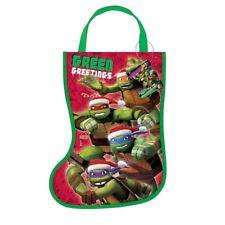 "Teenage Mutant Ninja Turtles Christmas Stocking Shaped Tote Bag 13"" x 9.5"""