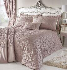 Bentley Blush Double Bed Duvet Cover Damask Jacquard Quilt Bedding Set Pink New