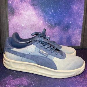 Puma California Denim Vintage Style Men's Size 8.5 Shoes Sneakers Blue 369933-01