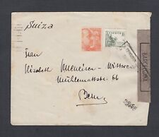 SPAIN 1940s TWO WWII CENSORED COVERS BARCELONA TO BERN SWITZERLAND