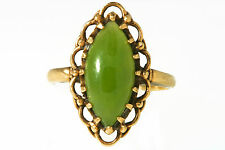 CHRYSOPRASE AND 10K YELLOW GOLD COCKTAIL RING, SIZE 5.5