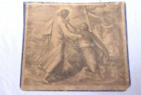 Chart Schulwandkarte~1880 Steel Engraving Colored Jesus Keeps Sinking Peter